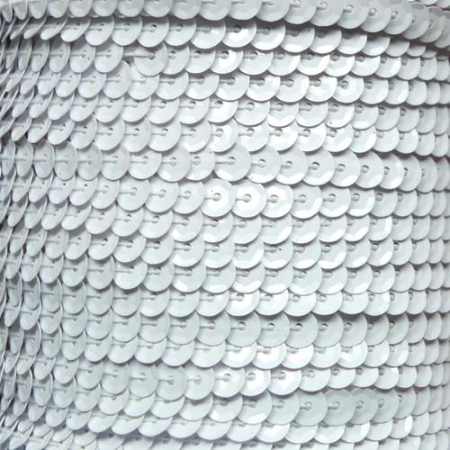 Sequin Trim 5mm Cup White Metallic