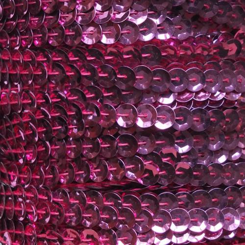 Sequin Trim 5mm Cup Candy Pink Metallic