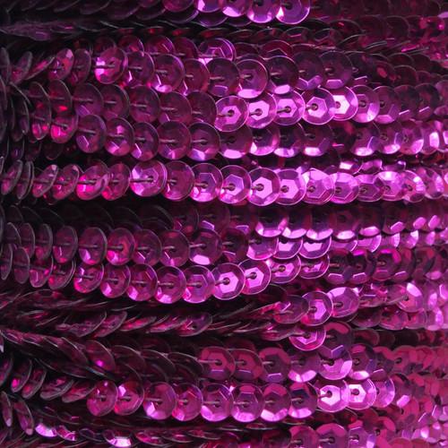 Sequin Trim 5mm Cup Fuchsia Pink Metallic