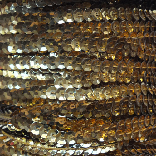 Sequin Trim 5mm Cup Gold Metallic