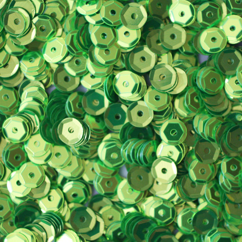 5mm Cup Sequins Lime Green Metallic