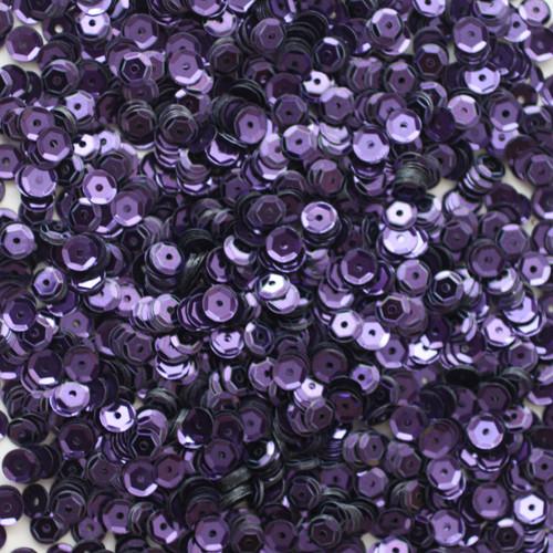 5mm Cup Sequins Deep Purple Metallic
