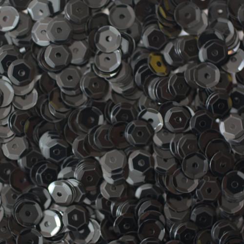 5mm Cup Sequins Black Opaque
