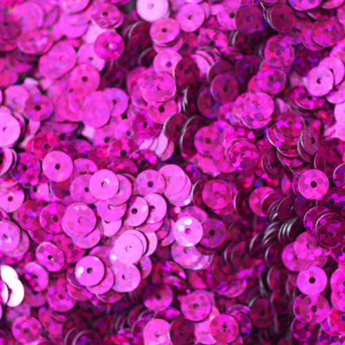 5mm Sequins Fuchsia Pink Hologram Glitter Sparkle Metallic