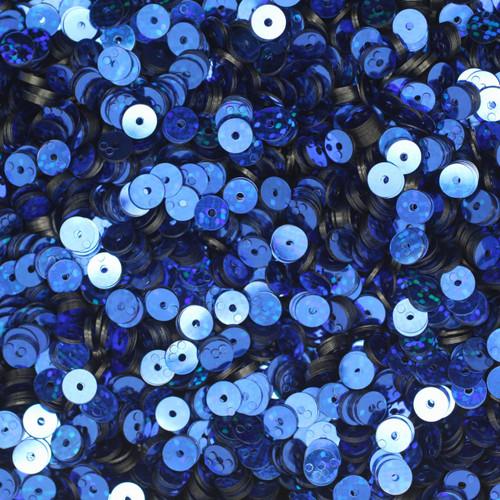 5mm Sequins Royal Blue Hologram Glitter Sparkle Metallic