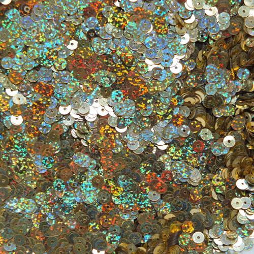 5mm Sequins Gold Hologram Glitter Sparkle Metallic