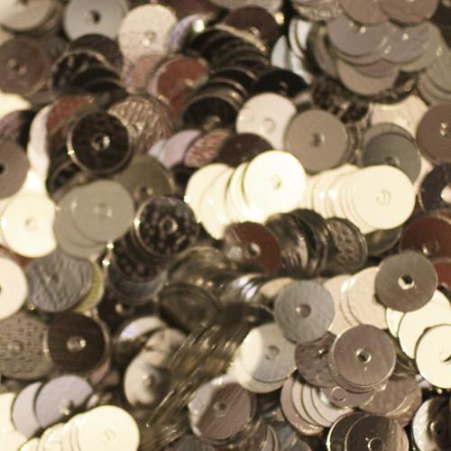 5mm Sequins Silver Metallic
