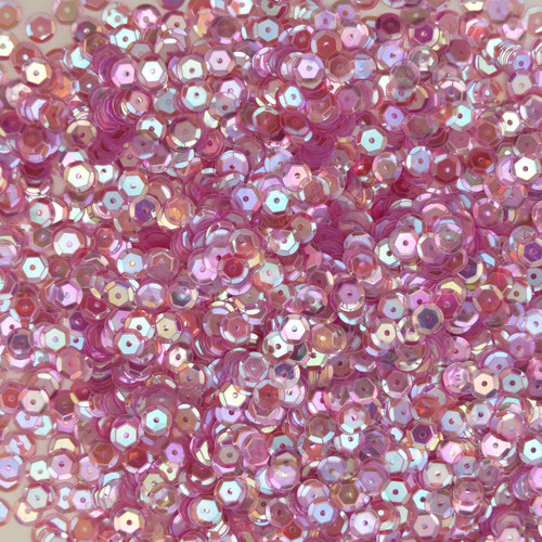 6mm Cup Sequins Soft Lilac Lavender Crystal Rainbow Iris Iridescent