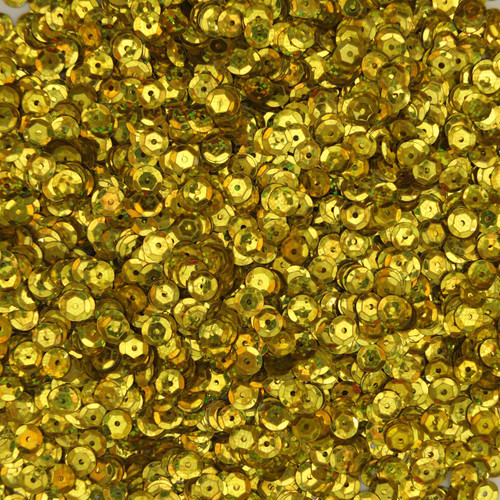 6mm Cup Sequins Yellow Hologram Glitter Sparkle Metallic