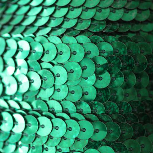 Sequin Trim 6mm Green Hologram Glitter Sparkle Metallic