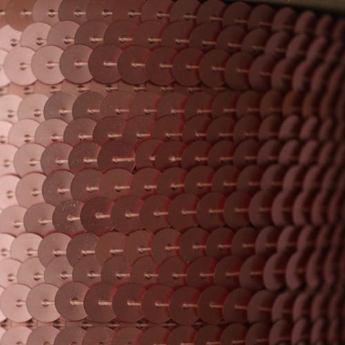 Sequin Trim 6mm Pink Matte Silk Frost