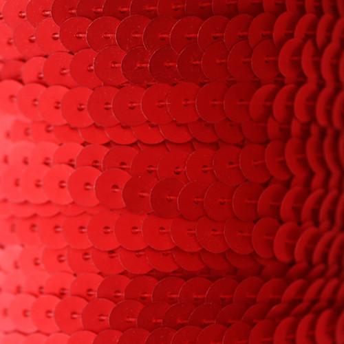 Sequin Trim 6mm Red Matte Silk Frost