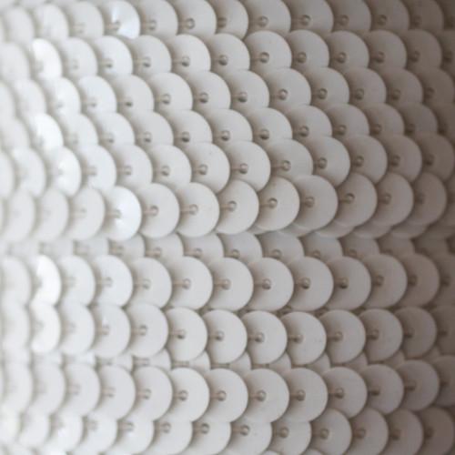 Sequin Trim 6mm White Opaque