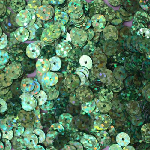 6mm Sequins Grass Green Hologram Glitter Sparkle Metallic