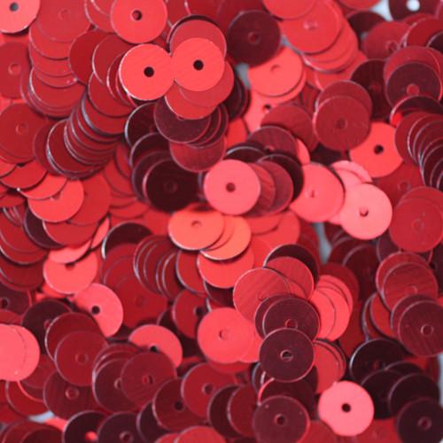 6mm Sequins Red Metallic