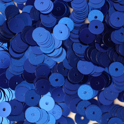 6mm Sequins Royal Blue Metallic