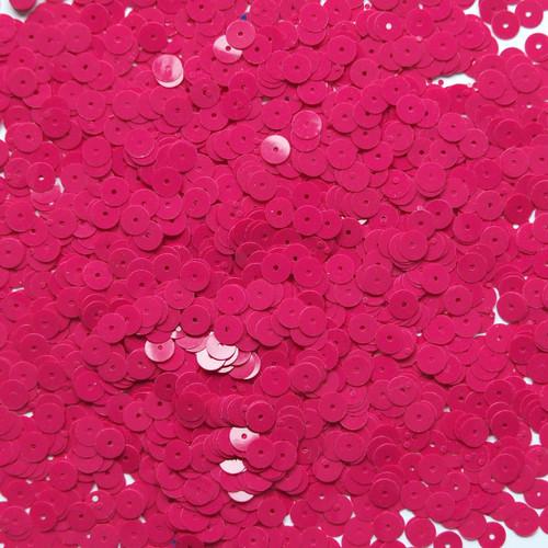 6mm Sequins Fuchsia Pink Opaque
