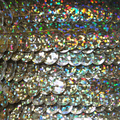 Sequin Trim 8mm Cup Gold Hologram Glitter Sparkle Metallic