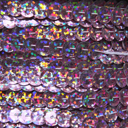 Sequin Trim 8mm Cup Pink Hologram Glitter Sparkle Metallic