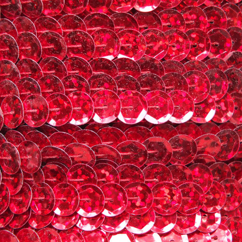 Sequin Trim 8mm Cup Red Hologram Glitter Sparkle Metallic