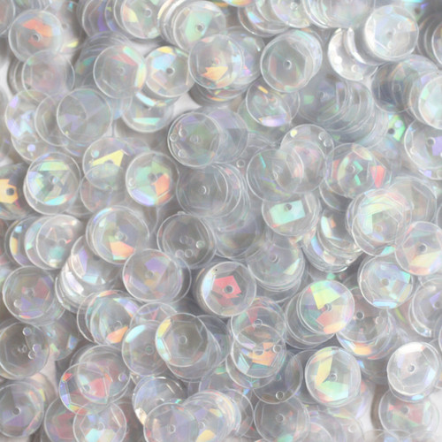 8mm Cup Sequins Crystal Hologram Glitter Sparkle