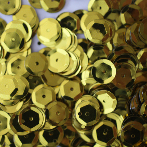 8mm Cup Sequins Yellow Metallic