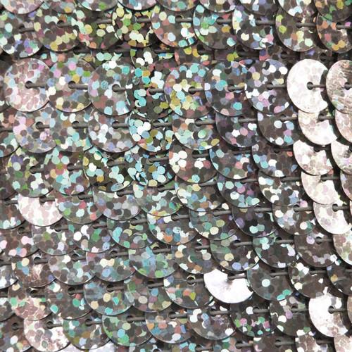 Sequin Trim 8mm Ultra Silver Hologram Glitter Sparkle Metallic