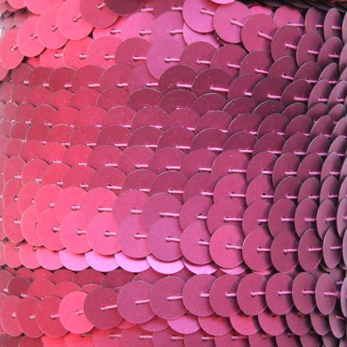 Sequin Trim 8mm Red Wine Burgundy Matte Silk Frost
