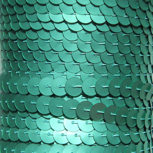 Sequin Trim 8mm Green Matte Silk Frost