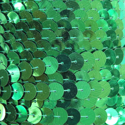 Sequin Trim 8mm Green Metallic