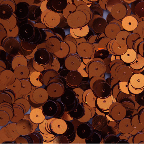 8mm Sequins Bronze Brown Metallic