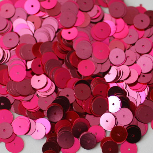 8mm Sequins Hot Pink Fluorescent Metallic