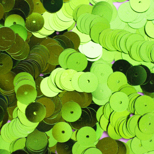 8mm Sequins Lime Green Metallic