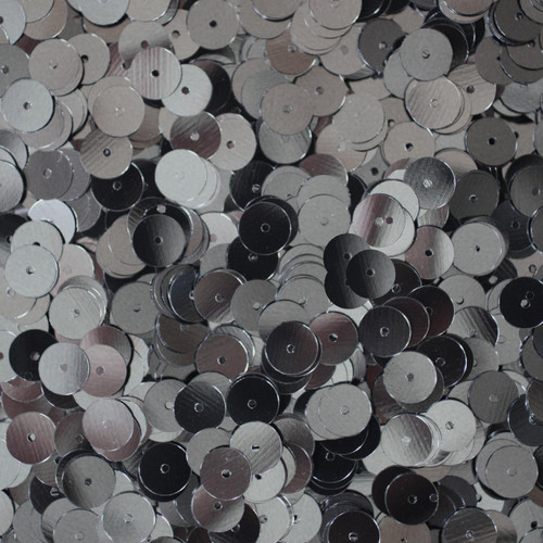 8mm Sequins Hematite Shiny Gray Metallic