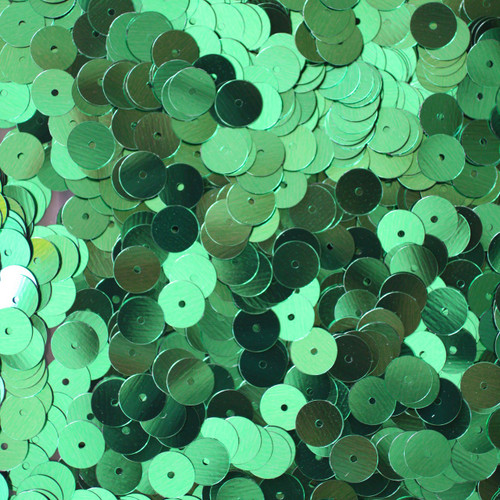8mm Sequins Medium Green Metallic