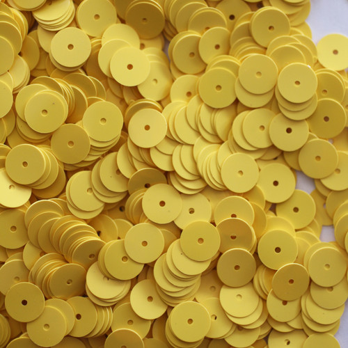 8mm Sequins Yellow Opaque