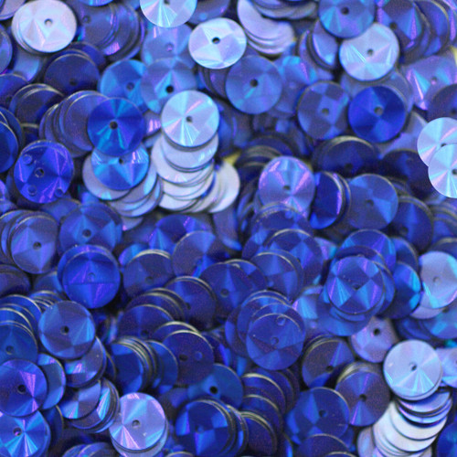 8mm Sequins Royal Blue Prism Metallic