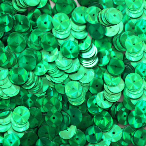 8mm Sequins Green Prism Metallic