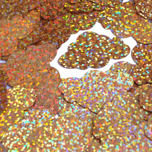 "Cloud Sequin 1.5"" Peach Glitter Hologram Glitter Sparkle Metallic"