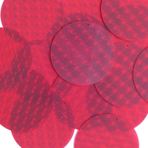 """2"""" Sequins Red 3D Three Dimensional Reflector"""