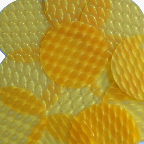 """2"""" Sequins Yellow 3D Three Dimensional Reflector"""