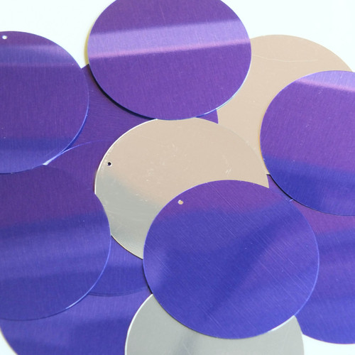 "2"" Sequins Purple Silver Metallic"