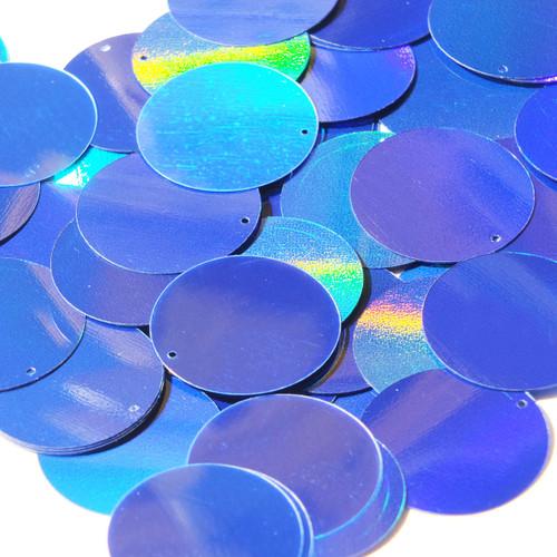40mm Sequins Blue Lazersheen Reflective Metallic