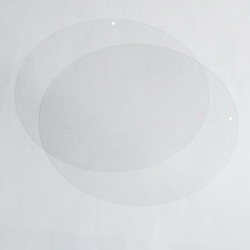 """6"""" Sequins Crystal Clear Transparent See-Thru"""