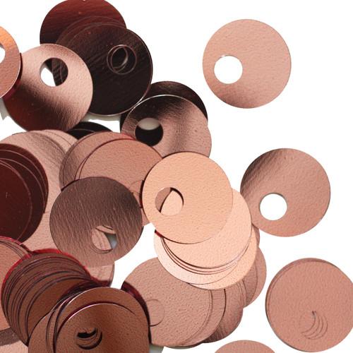 20mm Sequins Large Hole Pink Metallic