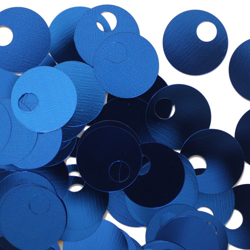 20mm Sequins Large Hole Royal Blue Metallic