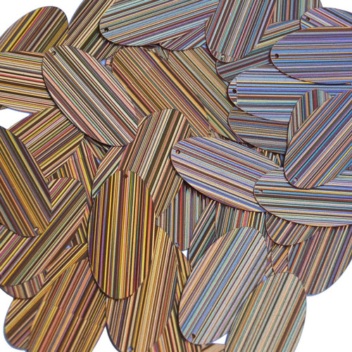 "Oval Sequin 1.5"" Peach City Lights Metallic Reflective"