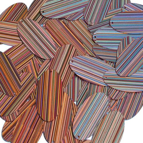 "Oval Sequin 1.5"" Salmon Pink City Lights Metallic Reflective"