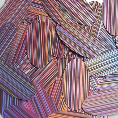 "Oval Sequin 1.5"" Pink City Lights Metallic Reflective"