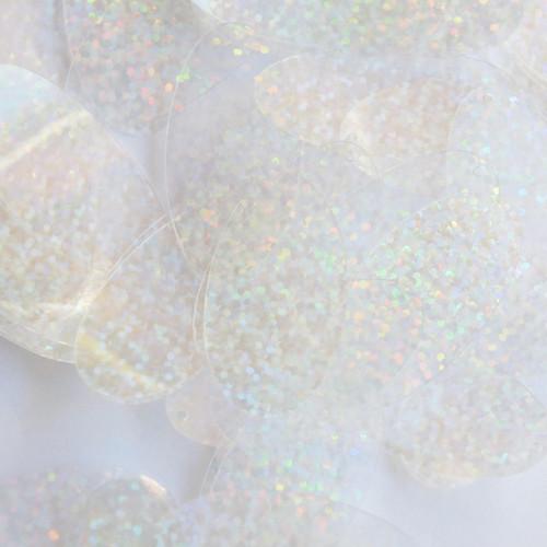 """Oval Sequin 1.5"""" Crystal Hologram Glitter Sparkle"""